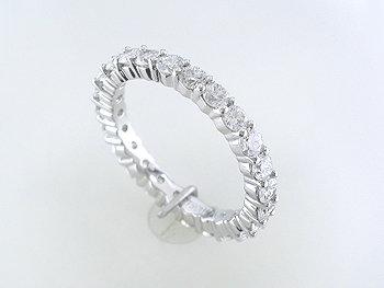 Round brilliant cut diamond eternity band