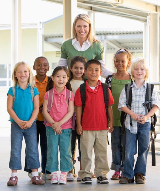 Lehrer und Klasse