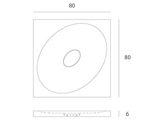 Disegno tecnico piatto doccia Entity Ovale showerposizionabile in appoggio o a filo pavimento in marmo carrara CD con copripiletta in pietra.
