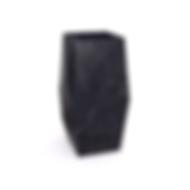 Lavello Entity Punta high freestanding disponibile assemblato e a massello in marmo nero marquinia con copripiletta in pietra.