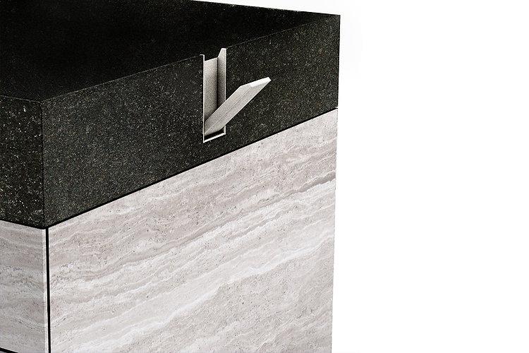 lavabo in marmo a rettangolare con cassettiera e portasciugamani