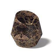 Lavello Tosca da appoggio in emperador brown a massello con copripiletta in pietra.