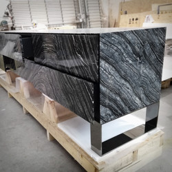 Craft cabinet in Silver Wave