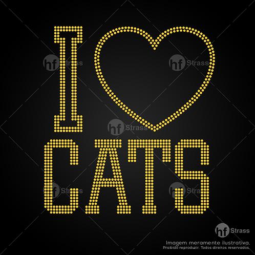 5 un. I Love Cats - Ref.: 1659