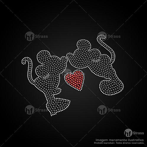 5 un. Minnie & Mickey - Ref.: 1424