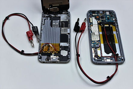 custom battery connection - internal view