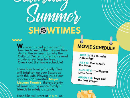 FREE Saturday Summer Showtimes