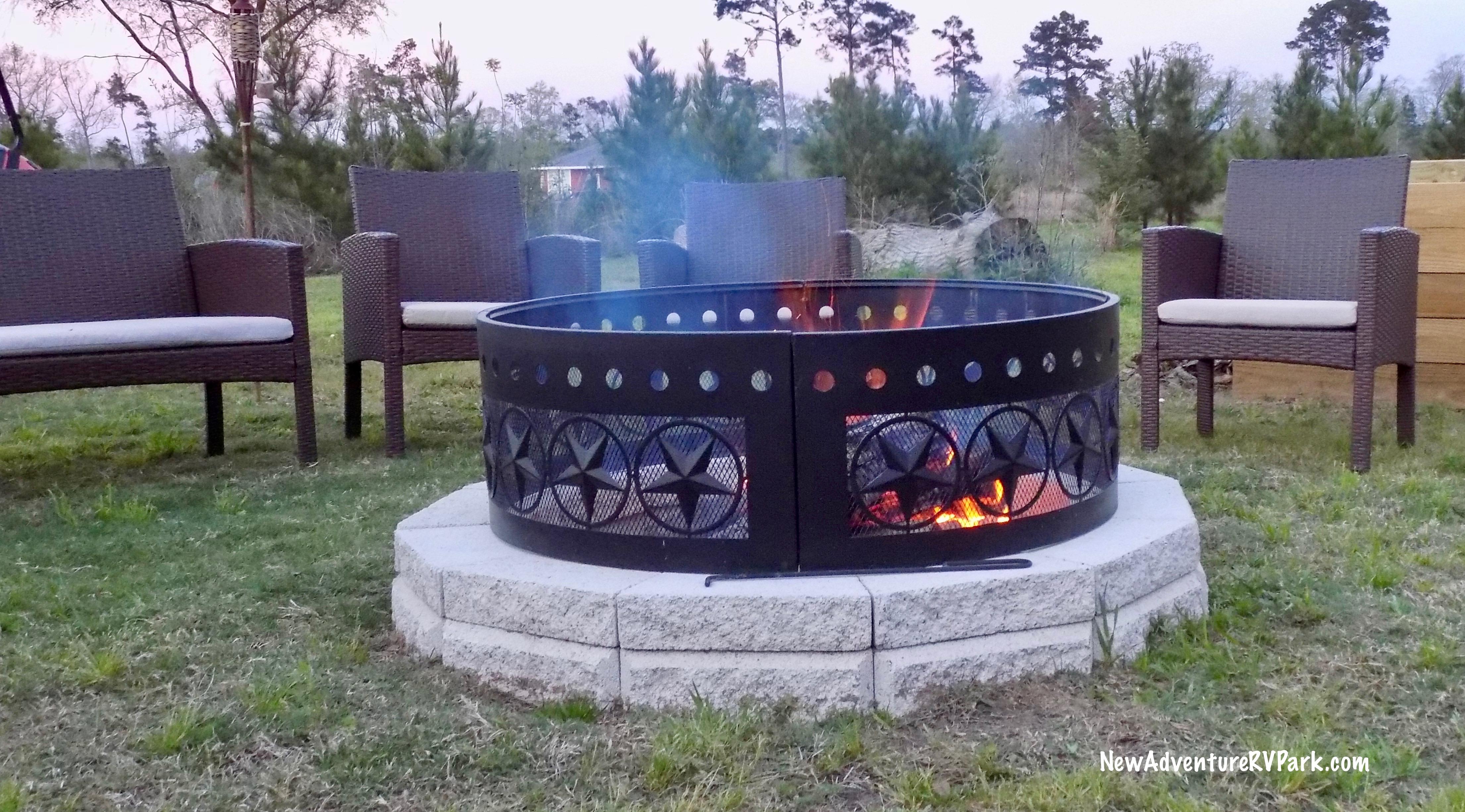 Campfire at New Adventure RV
