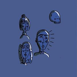 Dark blue . . . . .  #illustration #art