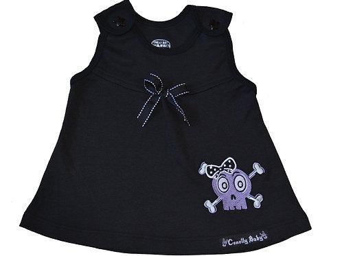 Vestido negro con calavera para niñas