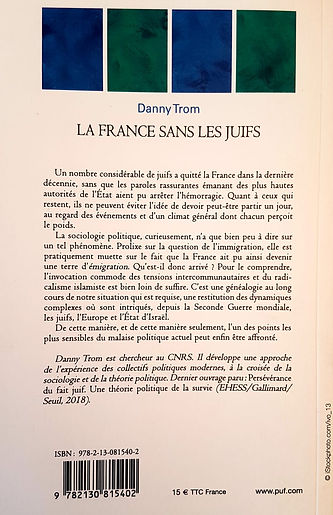 La France sans les Juifs dos de couvertu