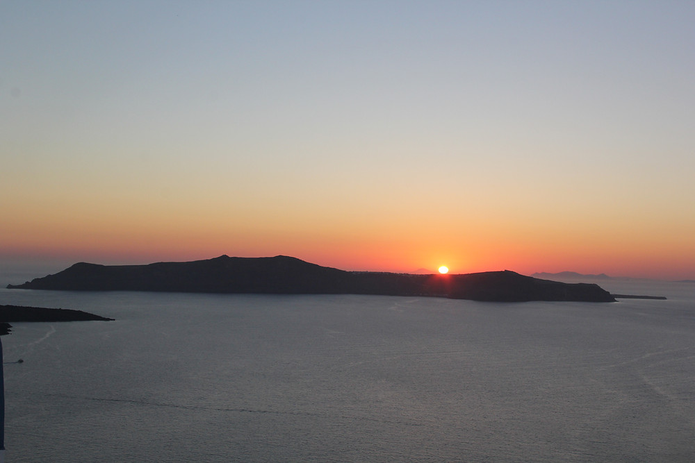 Santorini Greece Sunset from Fira