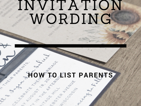 How & When to List Your Parents on Your Wedding Invitation