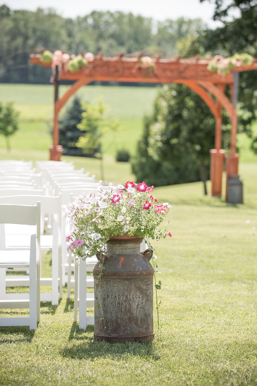 Rustic Wedding Milk Can Decor