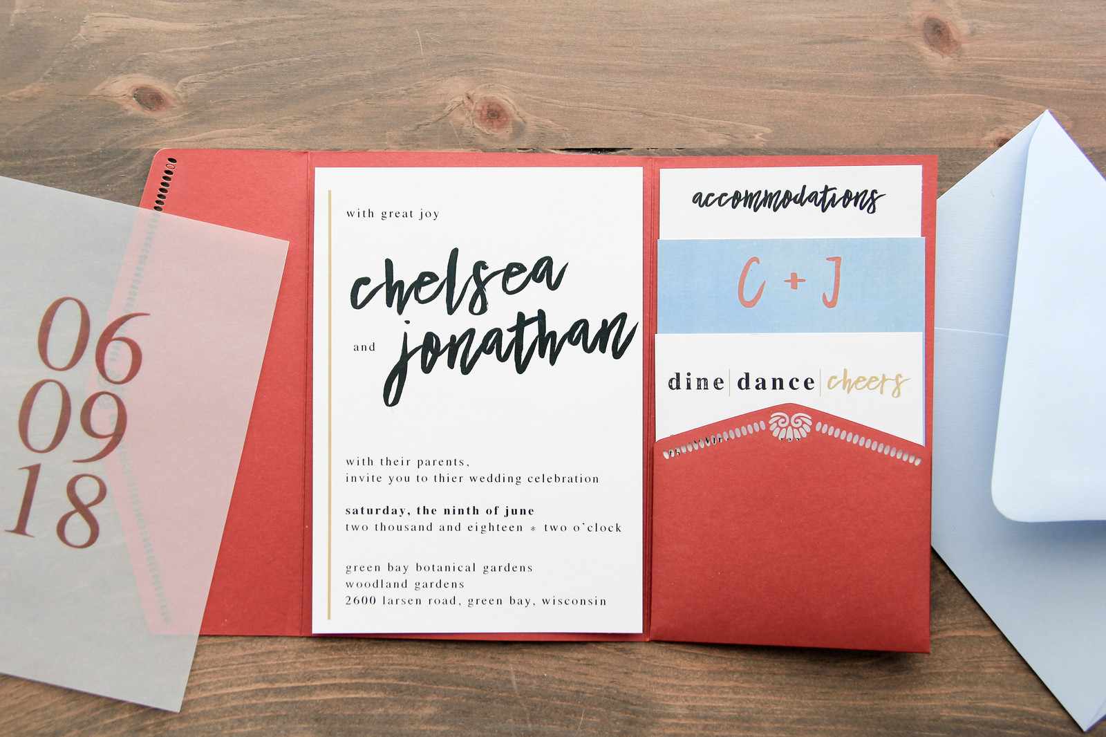 Modern Maroon Wedding Invitation | Ldesigns Invitations | Wisconsin ...