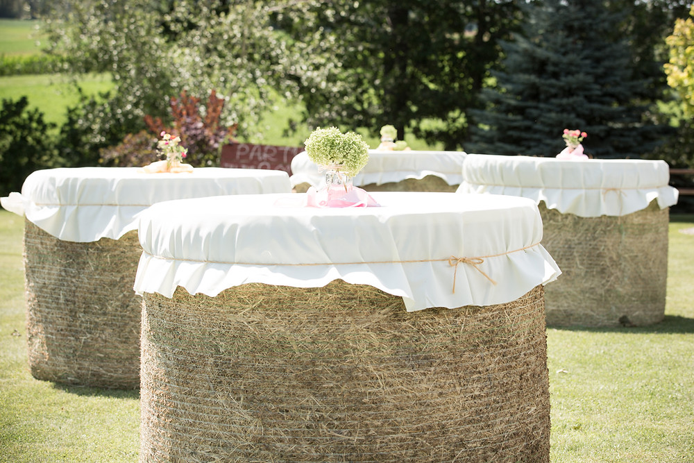 Round Bale Cocktail Tables