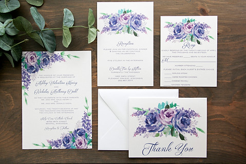 Lovely Lilacs Invitation Suit