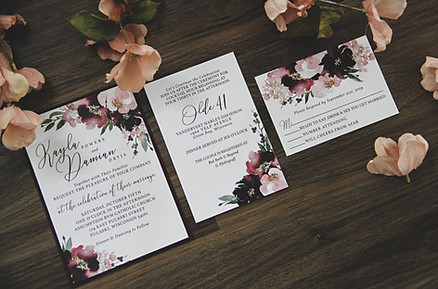 Berry Blooms Wedding Invitation Suite