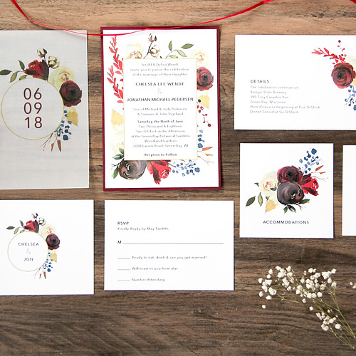 Cotton Patch Bouquet Invitation Suite