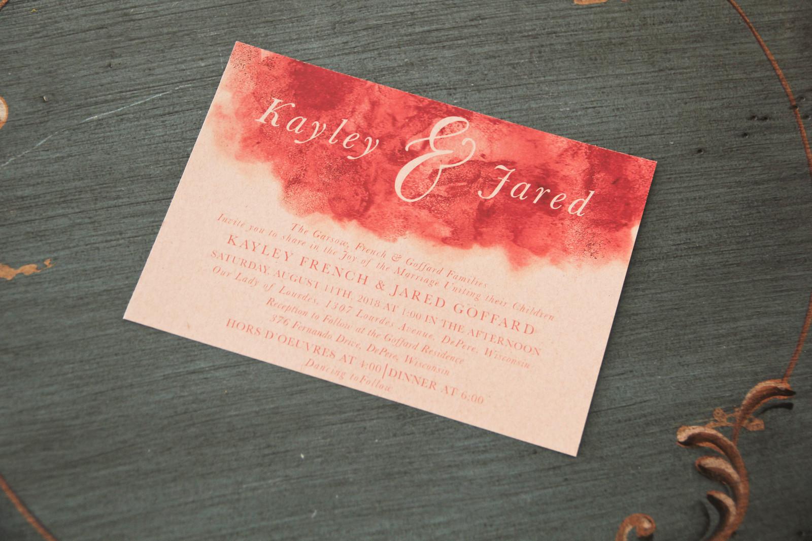 Coral Watercolor Wedding Invitation | Ldesigns Invitations ...