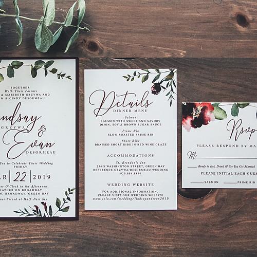 Modern Eucalyptus Wine Wedding Suite