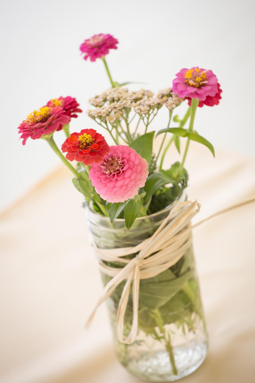 Mason Jar Wedding Center Pieces