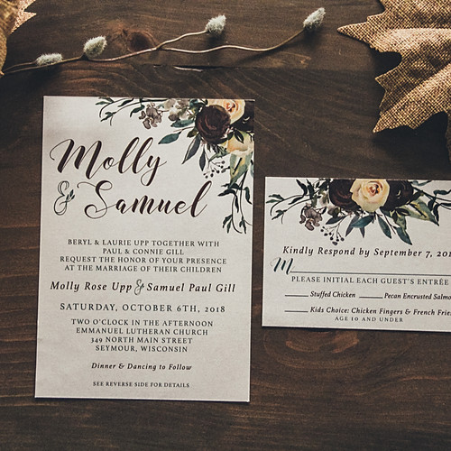 Fallin' In Love Wedding Invitation Suite