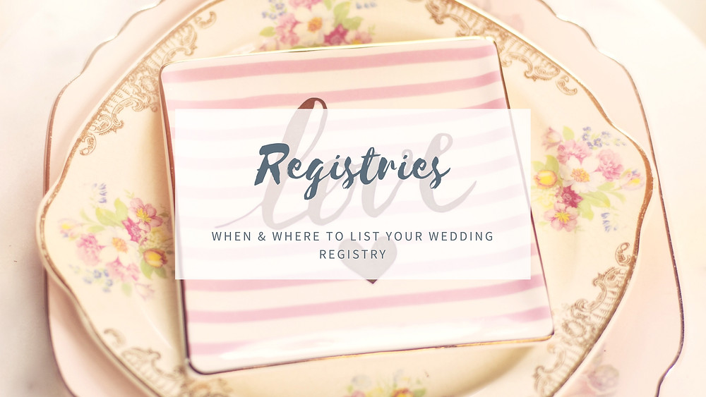 Where to Place Wedding Registries