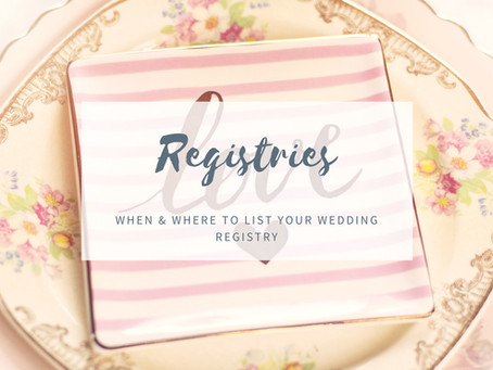 Where to List Your Wedding Registry