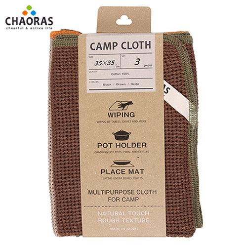 チャオラス キャンプクロス 3枚セット