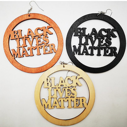 Black Lives Matter Wood Earrings Can Mixed 3 Colors