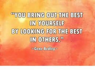 Looking for the Best in Others