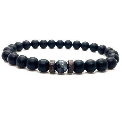 Men's Bracelet Natural Moonstone Bead Tibetan Buddha Chakra Lava Stone Diffuser