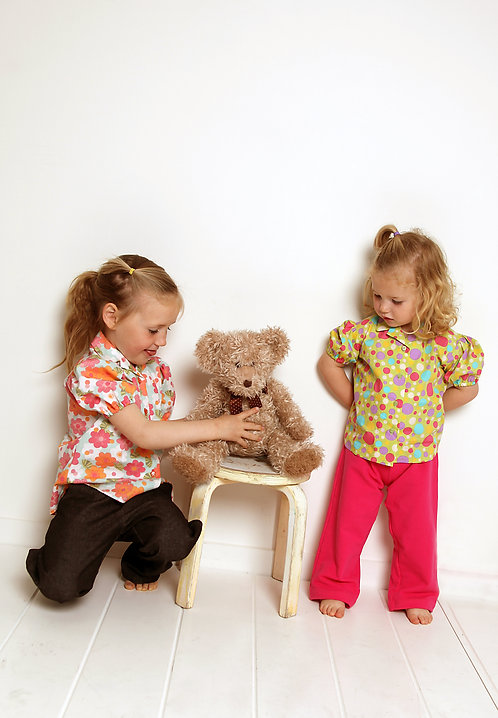 Girls Shirt - sizes 4-10 years- PDF pattern