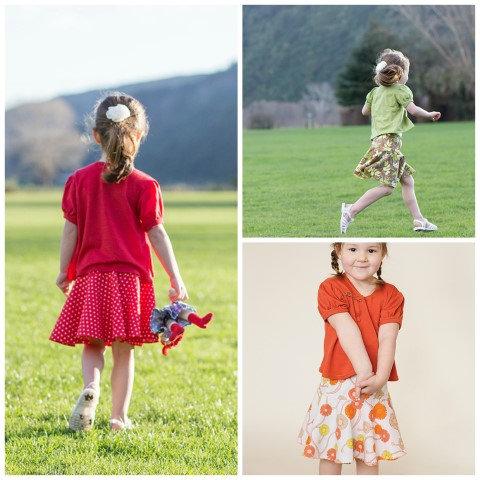 Encircling Skirt -sizes 2-10 yrs- PDF sewing pattern