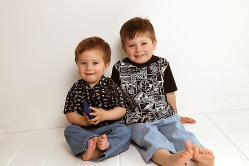 Boys Shirt - sizes 12- 24 mths- PDF pattern