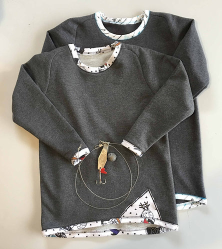 H & G Curved Raglan Sweatshirt- sizes 2-10yrs - PDF Sewing Pattern