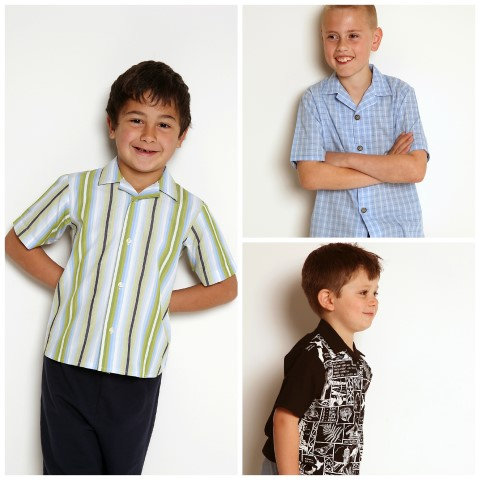 Boys Shirt - sizes 4-10 years- PDF pattern