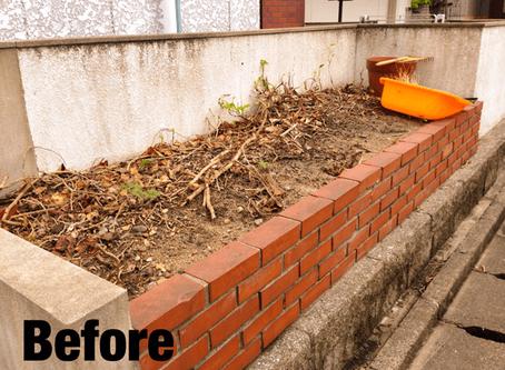 桑名市雑草駆除 花壇のお手入れ除草抜根の作業ご依頼ありがとうございます。