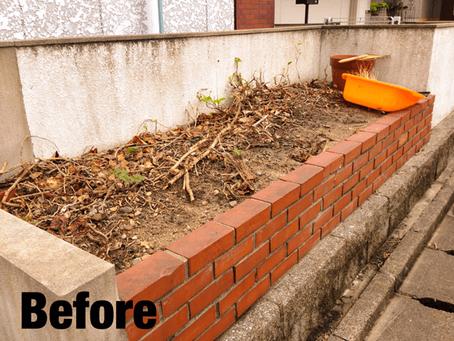 桑名市雑草駆除|花壇のお手入れ除草抜根の作業ご依頼ありがとうございます。