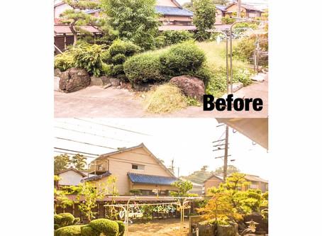 桑名市剪定|お庭全体御手入れ作業
