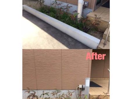鈴鹿市砂利敷き|花壇の砂利敷きと除草