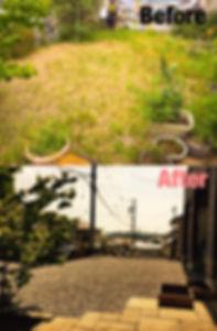 四日市市で防草シート砂利敷き施工