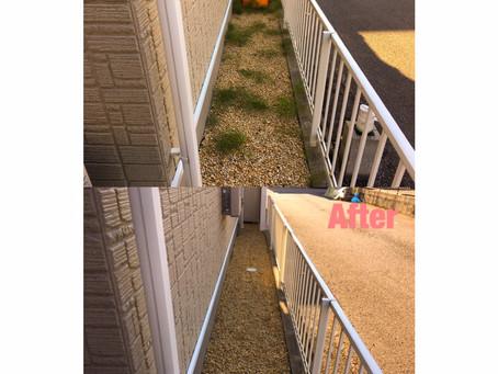 四日市にて手抜き除草作業 芝のメンテナンス