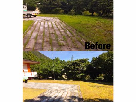 菰野町にて草刈り年間管理の作業事例