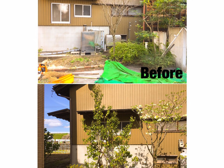桑名市植栽ガーデニング| 庭木の植栽作業