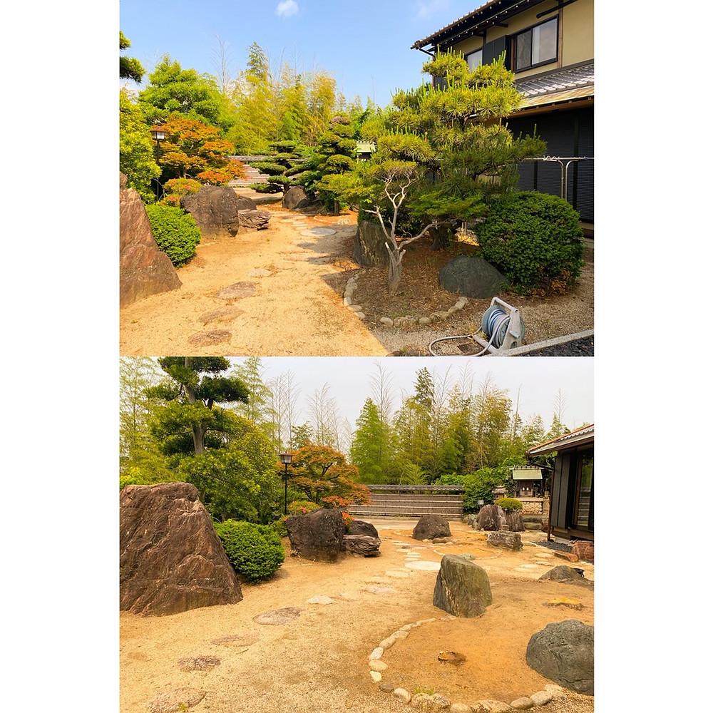三重県桑名市にて庭木伐採作業事例