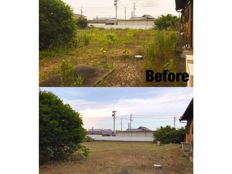 鈴鹿市草刈り作業事例