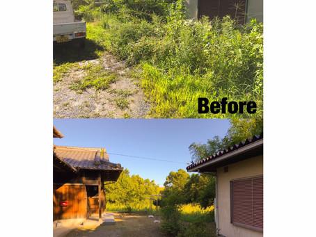 四日市草刈り| お庭全体除草作業
