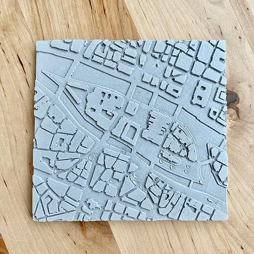 Dessous de verre Ile de la Cité en béton
